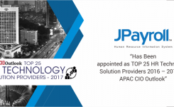 JPayroll Has Been appointed as TOP 25 HR Technology Solution Providers 2016 – 2017 by APAC CIO Outlook